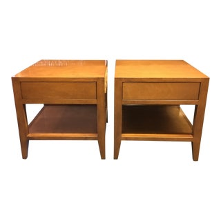 Jonathan Barnett Honey Nightstands - A Pair