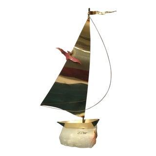 Demott Mid-Century Brass Boat