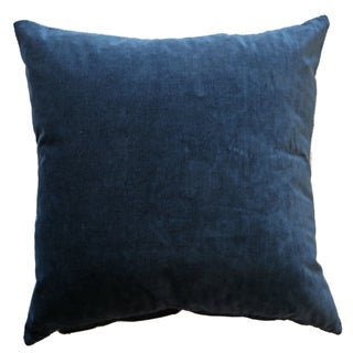 Navy Velvet Pillows - Set of 3