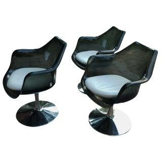 Tulip Chairs - Set of 3 Style of Eero Saarinen