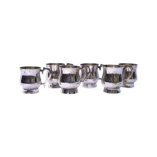Gothic Deco Silver Demitasse Cups - Set of 6