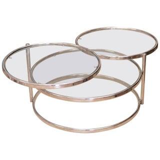 Milo Baughman Coffee Table With Mirror Bottom