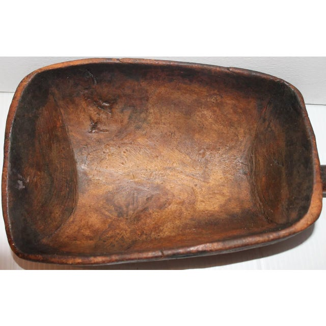 19th Century Original Old Surface Hand-Carved Scoop - Image 7 of 10