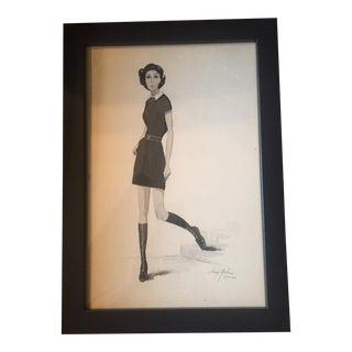 Larry Mebane Fashion Watercolor Illustration
