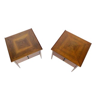 Pair of Danish Mid-Century Modern Walnut End Tables