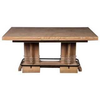 Art Deco Cerused Oak Dining Table