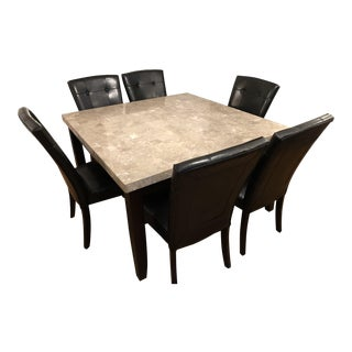 Marble Top Dining Table With 6 Chairs