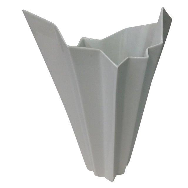 Hutschenreuther White Op Art Vase - Image 1 of 7