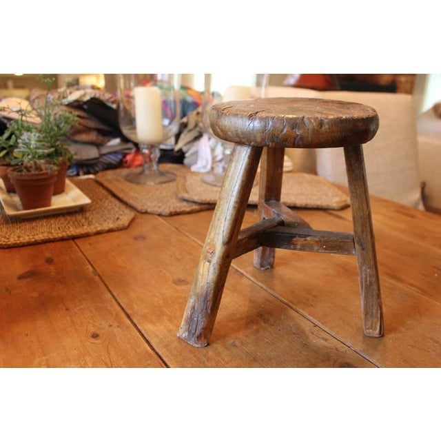 Rustic French Round Stool - Image 2 of 6