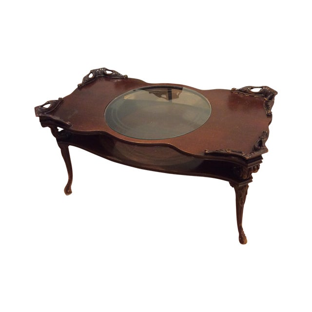 """Chippendale """"Looking Glass"""" Coffee Table - Image 1 of 4"""