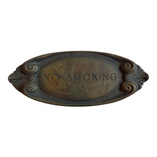 Vintage Bed & Breakfast Cape May 'No Smoking' Sign