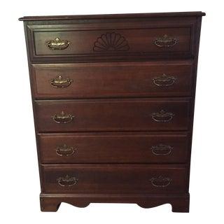 Wooden Shell Carved Dresser
