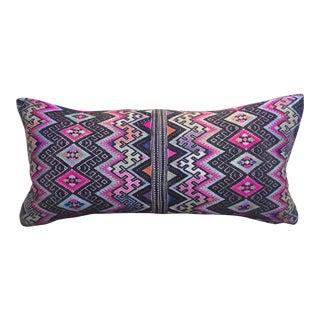 Silk Woven Tribal Wedding Quilt Pillow