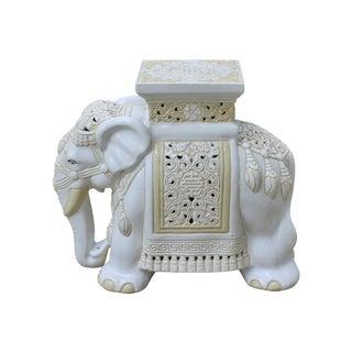 Mid-Century Elephant Garden Seat Stool