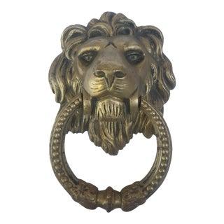 Vintage Gold Lion Door Knocker