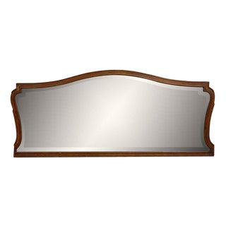 Dark Wood Framed Mantel Mirror