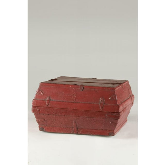 Red lacquer box with a removable top from China c. 1875 - Image 2 of 5