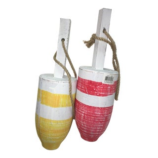 Red & Yellow Buoys Decor