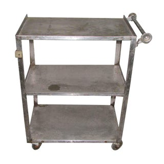 Stainless Steel Industrial Serving Cart