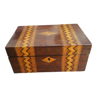 Antique Inlaid Marquetry Wood box