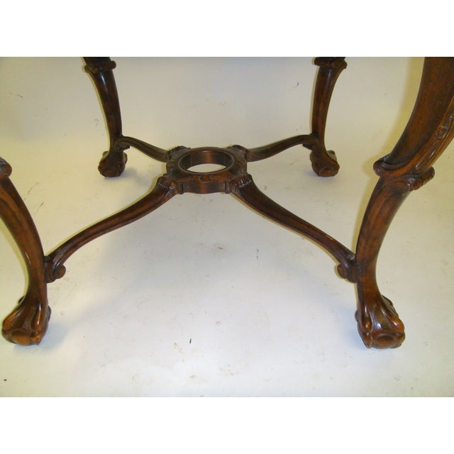Swedish Flame Birch Carved Center Table - Image 4 of 5