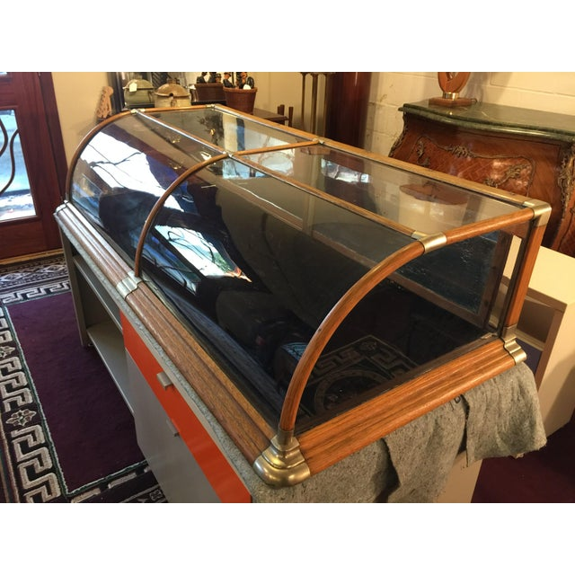 Antique Mercantile Curved Glass Display Case - Image 7 of 7