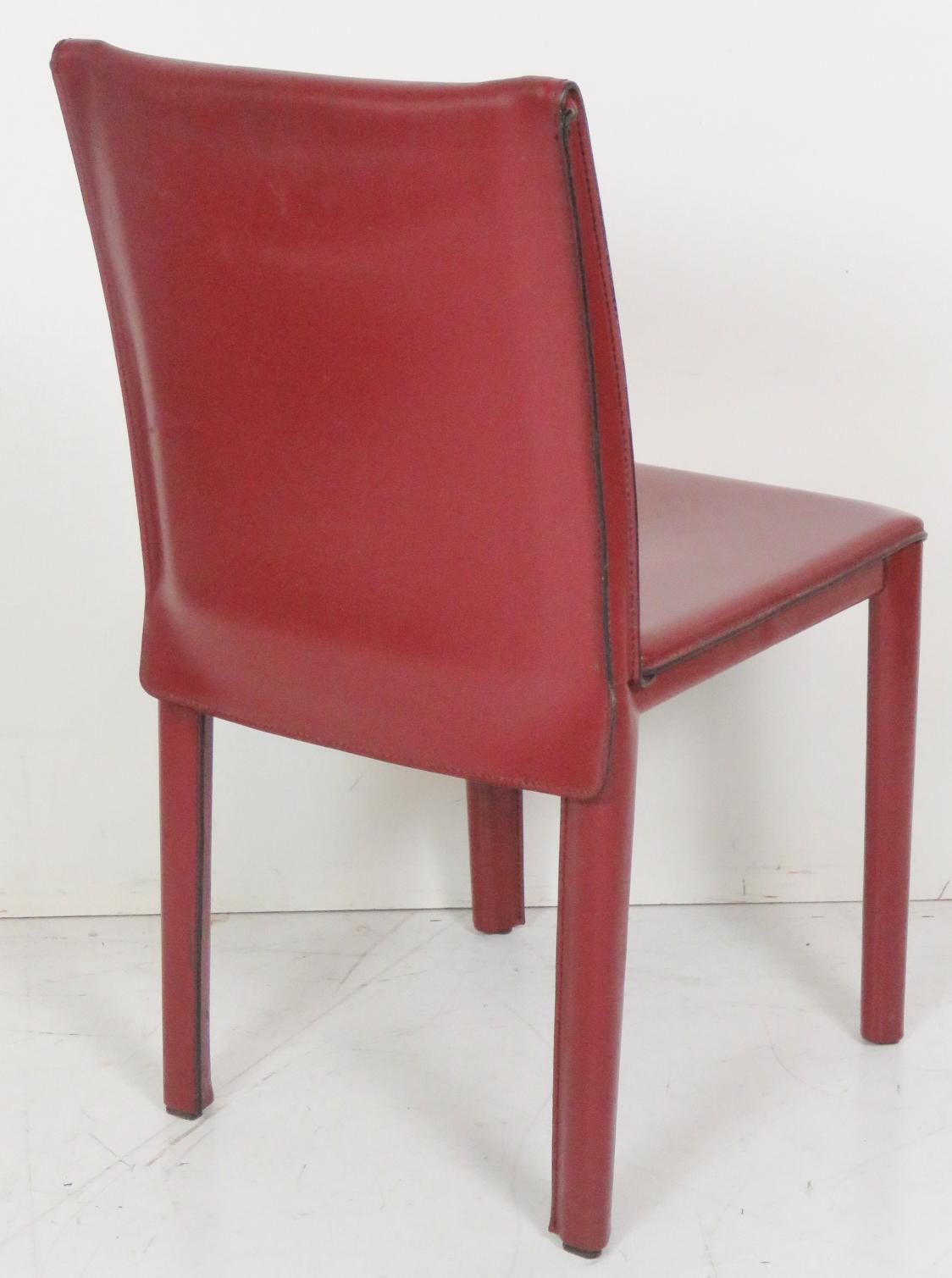 Exceptional Casillas Red Leather Side Chairs   Set Of 6   Image 5 Of 5