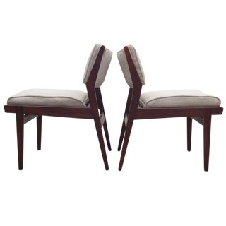 Jens Risom Pull Up Chairs - A Pair