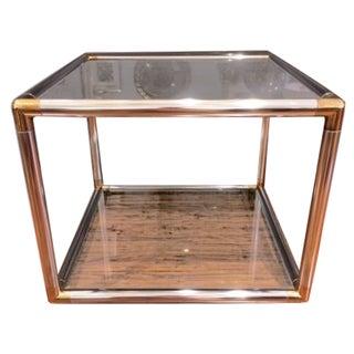 Vintage Modern Chrome & Brass Coffee Table