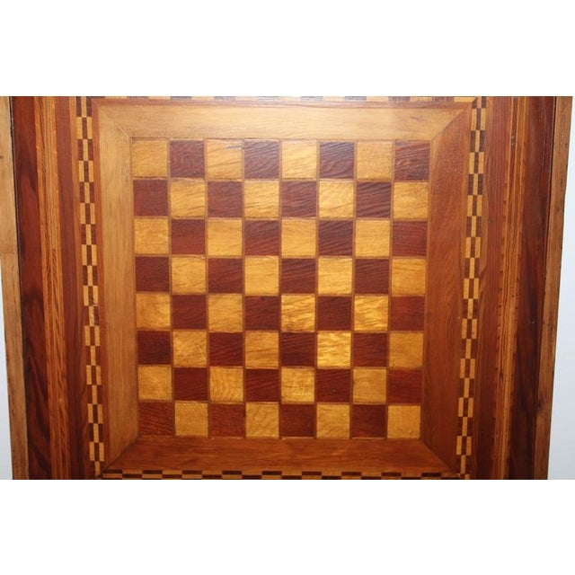 Early 20th Century Reversible Inlaid Wood Gameboard - Image 5 of 5