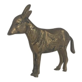 Brass Burro Figurine