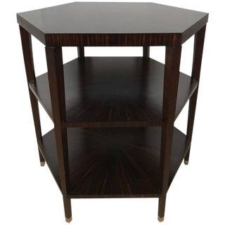 Ruhlmann Style Macassar Ebony Hexagon Occasional Table