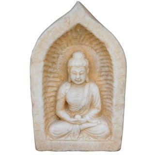 Chinese White Stone Buddha Statue