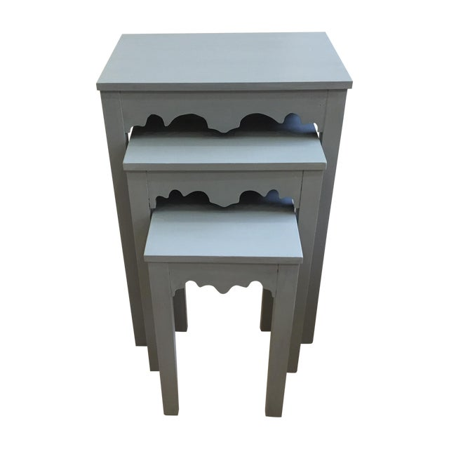 Image of Gray Nesting Side Tables - Set of 3