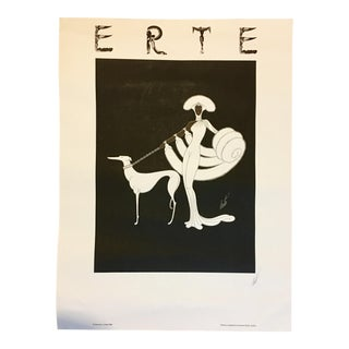 "1982 ""Ebony and White"" Erte Poster"