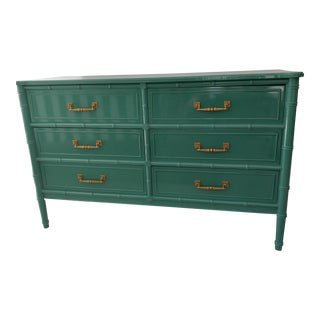 Henry Link for Dixie Green Faux Bamboo Dresser
