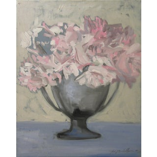 "Badillo ""Pink Roses in a Trophy Vase"" Painting"
