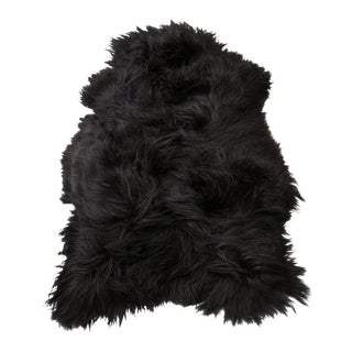 Gambrell Renard Black Sheepskin Throw
