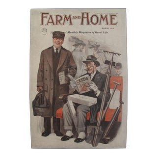 1919 Original Vintage Farm and Home Magazine Cover, March Edition - J.F Kernan