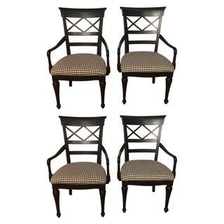 Ebonized Dining Armchairs - Set of 4
