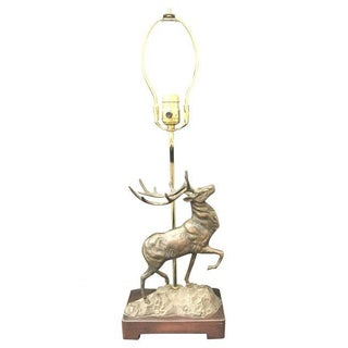 Vintage Bronze Stag Table Lamp