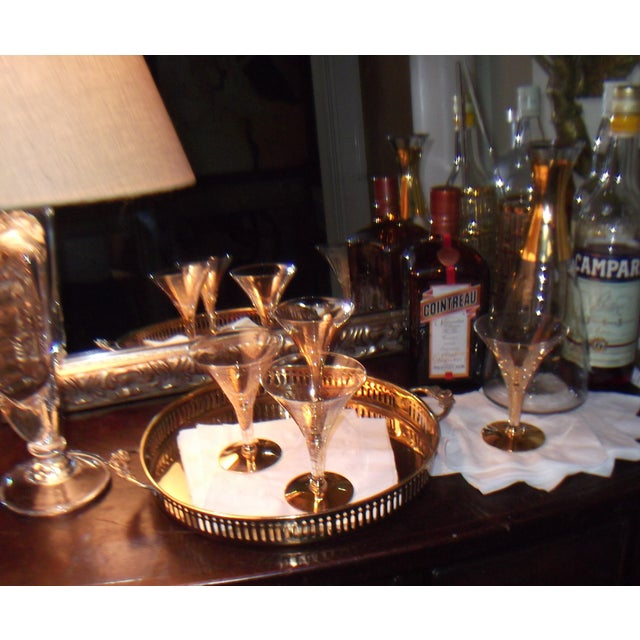 Dorothy Thorpe Cocktail Glasses W/ Gold Flecks - 4 - Image 8 of 10