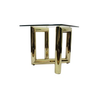 Karl Springer Attributed Brass Z End Table