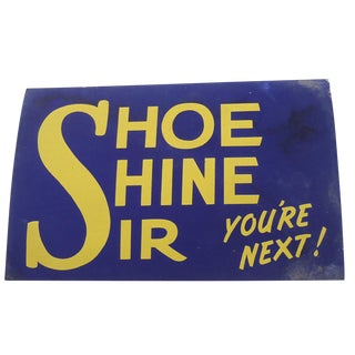 1940s Shoe Shine Sign