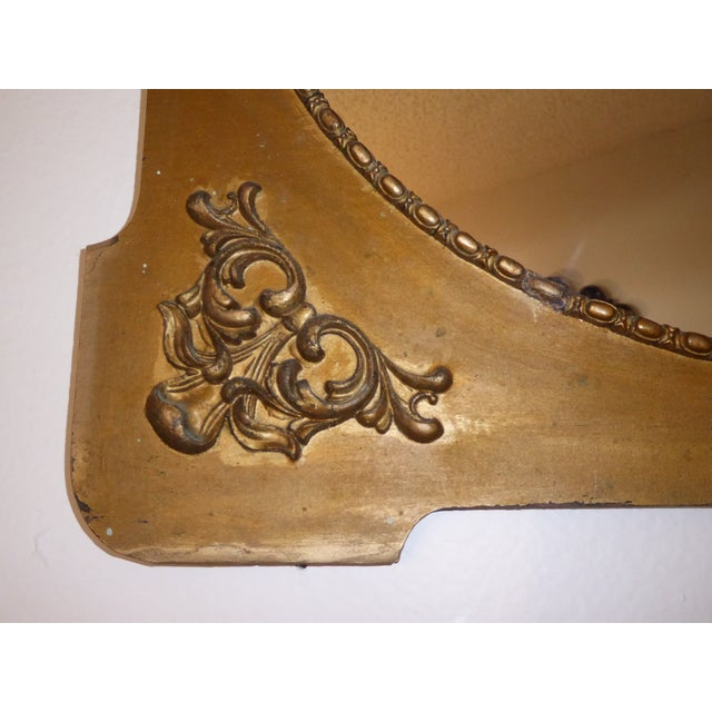 Antique Victorian Style Gold Gilt Floral Carved Wood Wall Mirror - Image 6 of 11