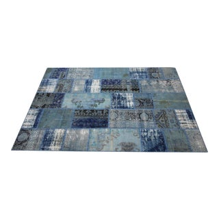 Vintage Turkish Overdyed Patchwork Oushak Distressed Rug - 6′5″ × 9′11″