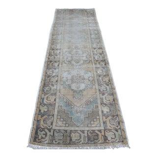 Antique Turkish Runner Wool Rug - 2′9″ × 9′5″