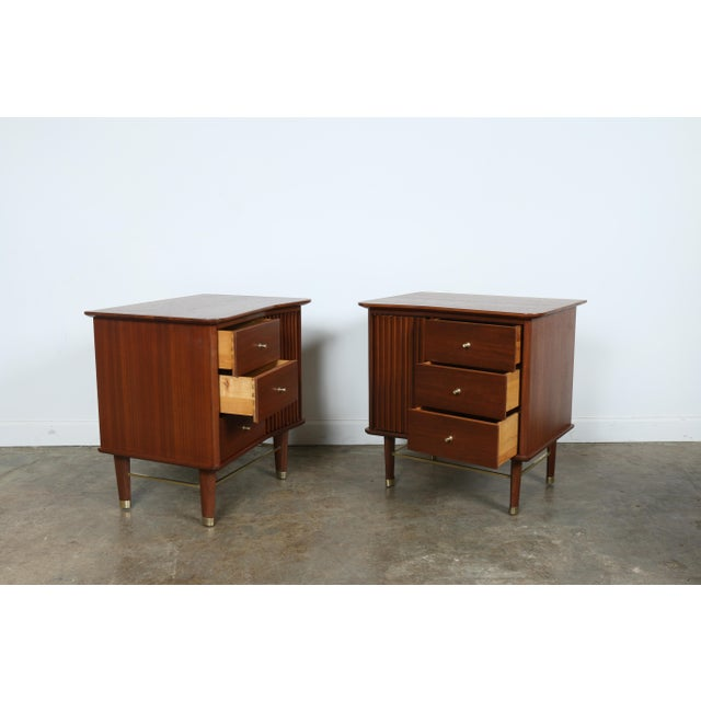 Refinished Walnut Side Tables Nightstands - A Pair - Image 6 of 11