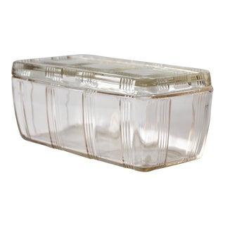 Vintage Hazel Atlas Clear Depression Glass Refrigerator Dish