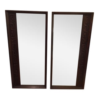 Witco Mid-Century Brutalist Style Wall Mirrors - A Pair